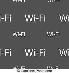 gris, réseau, modèle, signe., wifi, symbole., gratuite, seamless, sans fil, arrière-plan., vecteur, icon., wi-fi