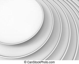 gris, résumé, cercle, fond