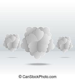 gris, résumé, fleurs, fond