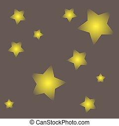 gris, résumé, fond, étoiles