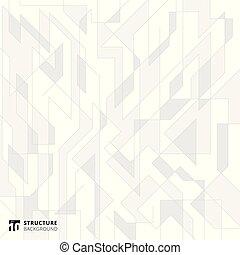 gris, résumé, lignes, arrière-plan., blanc, structure