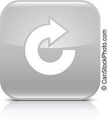 gris, repetición, reload, flecha, rotación, refrescar, icono