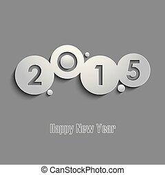 gris, resumen, años, deseos, plantilla, nuevo