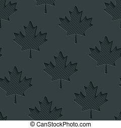 gris sombre, feuilles, wallpaper., érable