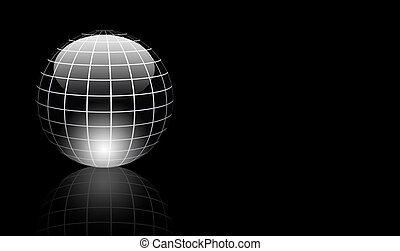 gris, sphère