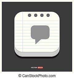 gris, style, 10, bloc-notes, eps, gratuite, vecteur, parole, gabarit, bulle, icône