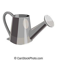 gris, style, arrosoire, icône, monochrome