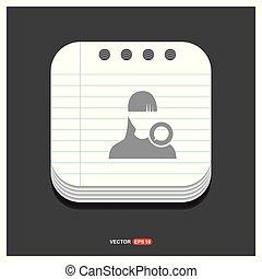 gris, style, bavarder, 10, bloc-notes, eps, gratuite, vecteur, utilisateur, gabarit, icon., icône
