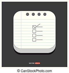gris, style, ok, 10, liste, bloc-notes, eps, gratuite, vecteur, gabarit, chèque, icône