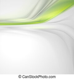 gris, suave, resumen, plano de fondo, con, verde, elemento