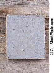 gris, table, vue, boîte, vieux, sommet, vendange, bois