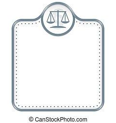 gris, texto, marco, símbolo, ley, su