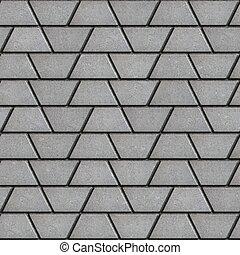 gris, trapezoids., pavimentar, forma, losas