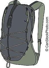 gris, verde, bolsa
