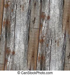gris, viejo, cerca, de madera, papel pintado, seamless,...