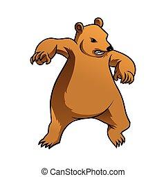 grisonnant, caractère, ours