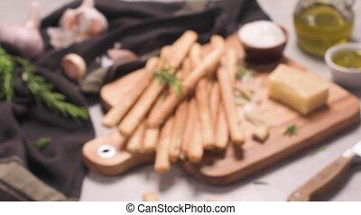 Grissini bread sticks - Fresh baked homemade grissini bread ...