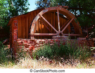 Grist Mill - Old water powered grist mill restored and...
