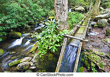Grist Mill - The water sluece for the old Reagan Grist Mill...