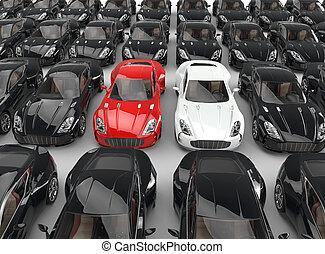 grit, resolution., auto's, beeld, auto's, hoog, black , stander, velen, ultra, uit