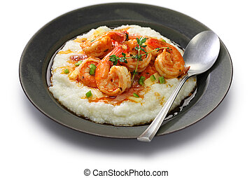 grits, gamberetto