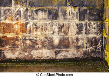 Image of gritty, dirty stone wall.