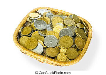 Grivna Coins in a Basket