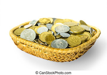 Grivna Coins in a Basket