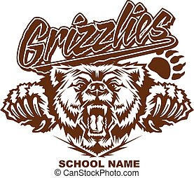 grizzlies school design - stylized grizzlies team design...