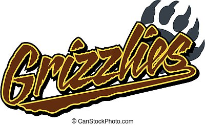 grizzlies team design with claw