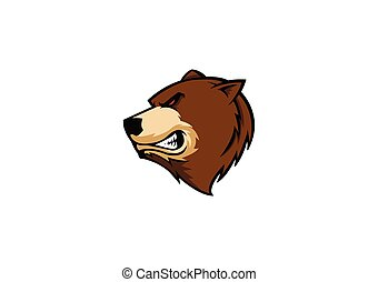 grizzly bear mascot - vector illustration of grizzly bear