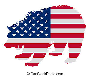 Grizzly in stars and stripes