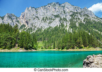Gr?ner see with crystal clear water in Austria