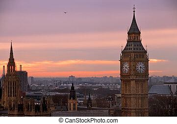 groß, ansicht, auge, ben, london