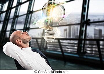 groß, begriff, idee, geschaeftswelt