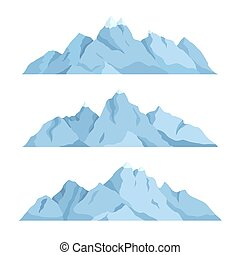 groß, berg, satz, vektor, abbildung