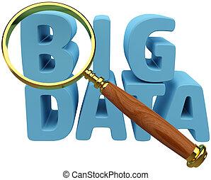 groß, daten, finden, informationen, analyse