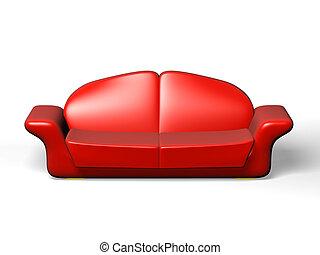 groß, falten, sofa