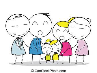 groß, familie
