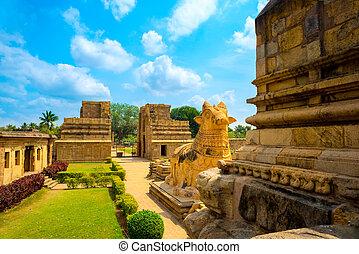 groß, fragment, hindu, gewidmet, shiva, architektur, tempel