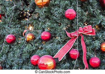 groß, Kugeln, Spielzeuge, Weihnachten, glas