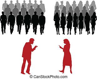 groß, maenner, frauen, personengruppe