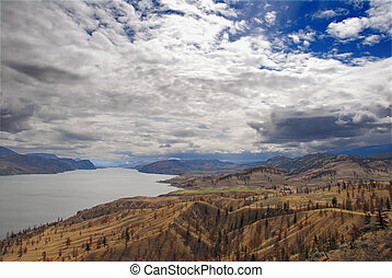 groß, montana, himmelsgewölbe, landschaftsbild