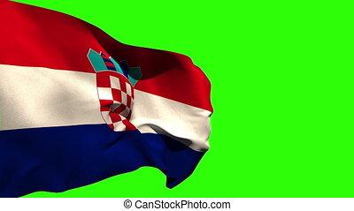 groß, national, blasen, croatia läßt