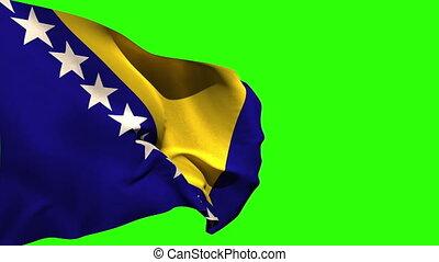 groß, national, blasen, fahne, bosnien