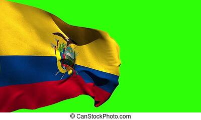 groß, national, blasen, fahne, ekuador