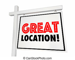 groß, ort, daheim, verkauf, haus, immobilien- zeichen, 3d, abbildung