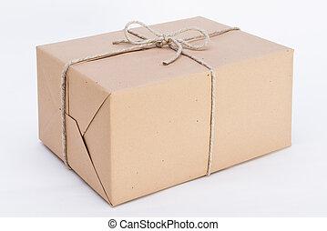 groß, paket, bereit, für, sendung