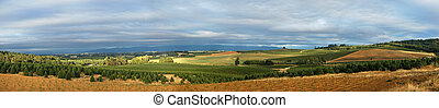 groß, panoramisch, landschaftsbild