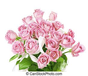 groß, rosen, blumengebinde